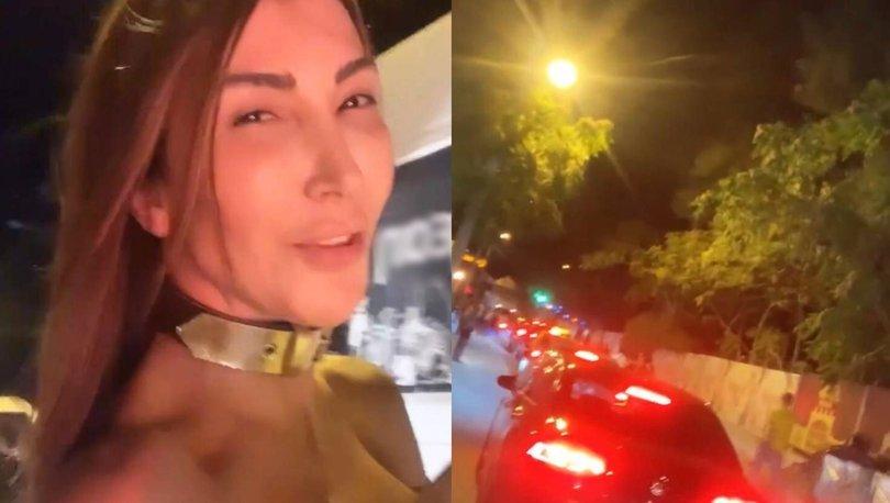 Hande Yener otostop çekip, motosiklete bindi!- Magazin haberleri