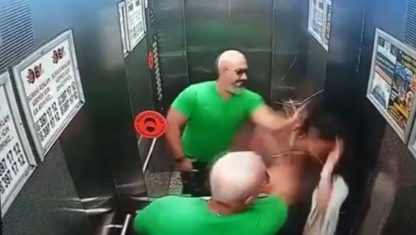 KAN DONDURAN OLAY! Asansörde çocuğa şiddet! Son dakika - VİDEO HABER