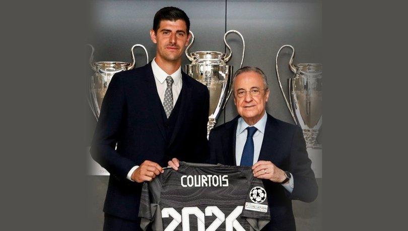 Real Madrid, kaleci Courtois'nın sözleşmesini yeniledi