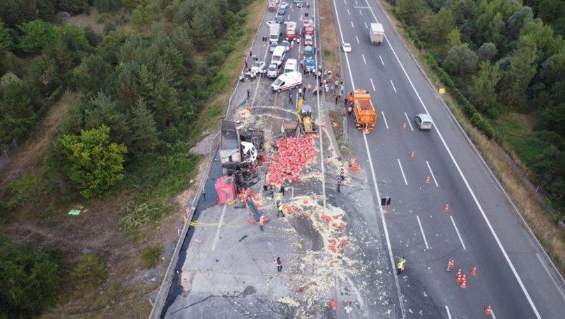 Son dakika haberleri! TEM'de zincirleme trafik kazası: 6 yaralı