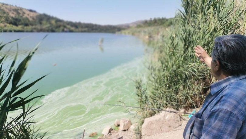 Son dakika: Eymir Gölü'nde ilk kez görüldü! Siyah su fışkırıyor
