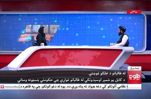 Taliban yetkilisi kadın sunucunun sorularını yanıtladı