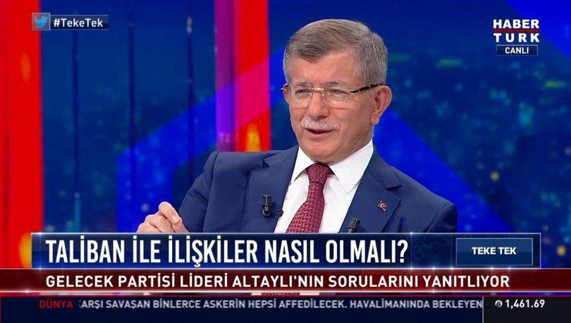 Gelecek Partisi Lideri Ahmet Davutoğlu Habertürk TV'de soruları yanıtladı