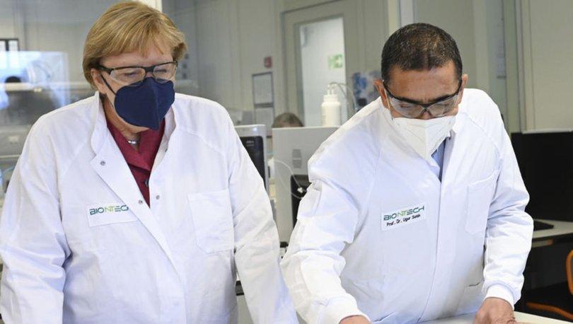 Almanya Başbakanı Merkel BioNTech'in üretim tesisini ziyaret etti
