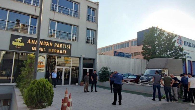 Anavatan Partisi Genel Merkezi önünde şüpheli çanta - Son dakika haberleri
