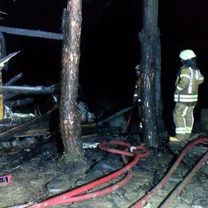 Şile'de tatil köyünde ve ormanlık alanda çıkan yangın korkuttu