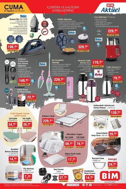 BİM 27 Ağustos 2021 Aktüel ürünler kataloğu! BİM'de haftanın indirimli ürünler listesi...