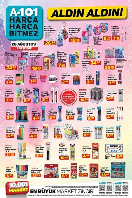 26 Ağustos A101 Aktüel ürünler kataloğu! A101'de bu hafta indirimli neler var? İşte listesi