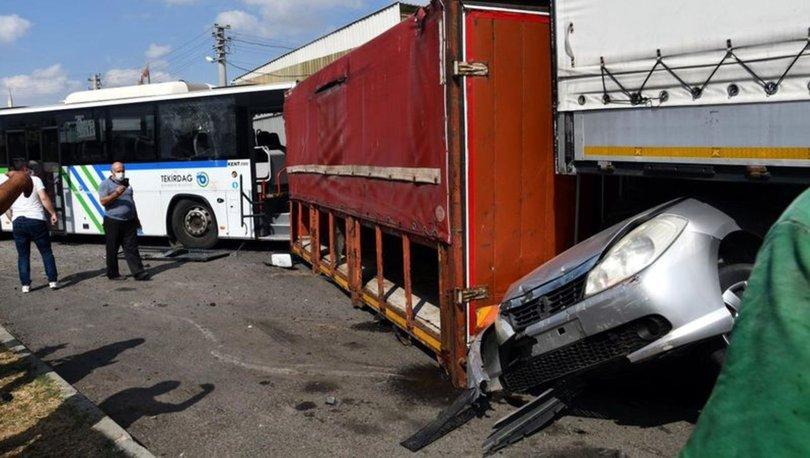 SON DAKİKA! Halk otobüsünün freni boşaldı! 7 araca çarptı