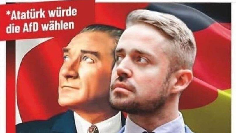 SON DAKİKA: Almanya'da ırkçı partinin Atatürklü afişine tepki