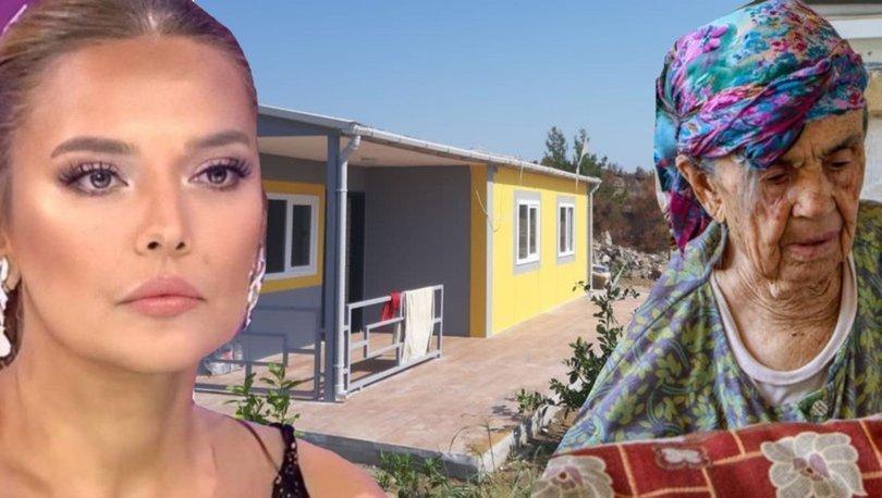 Demet Akalın, Manavgat'taki yangında evi yanan Fatma Öksüzoğlu'na verdiği sözü tuttu - Magazin haberleri