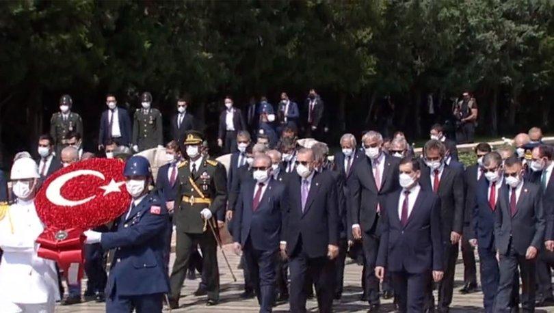 30 Ağustos törenleri! Son dakika haber: Devlet Erkanı Anıtkabir'de