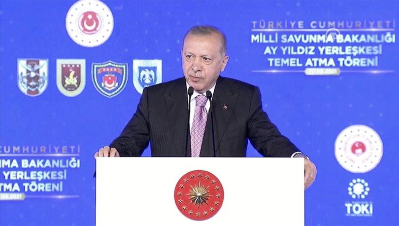 SON DAKİKA! Cumhurbaşkanı Erdoğan, Ay Yıldız Projesi'nin temelini attı - Haberler