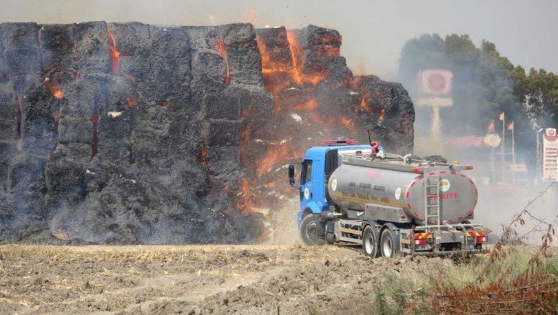 SON DAKİKA! Depoda yangın! 30 bin ton mısır silajı balyası...