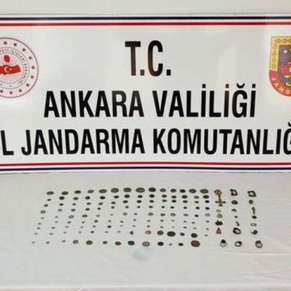 Ankara'da tarihi eser niteliğinde 125 sikke ele geçirildi: 1 gözaltı