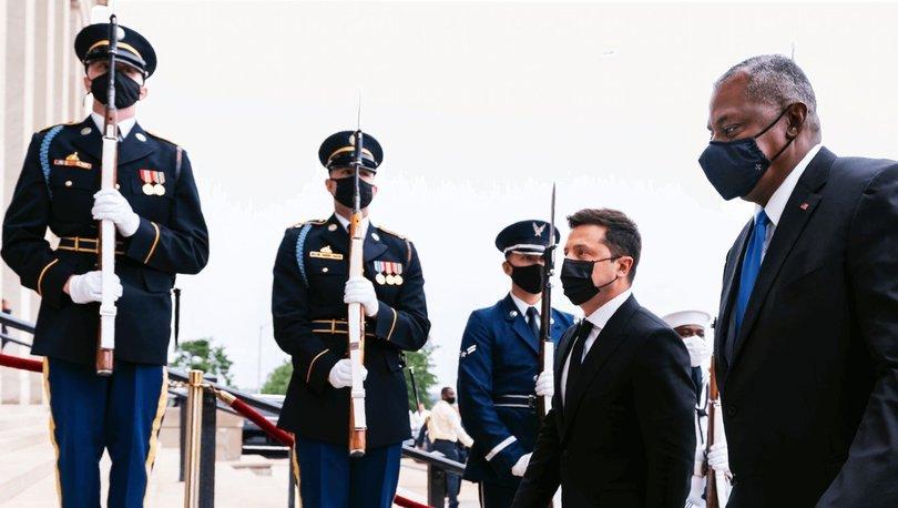 Ukrayna Devlet Başkanı Zelenski, Pentagon'da ABD Savunma Bakanı Austin ile bir araya geldi