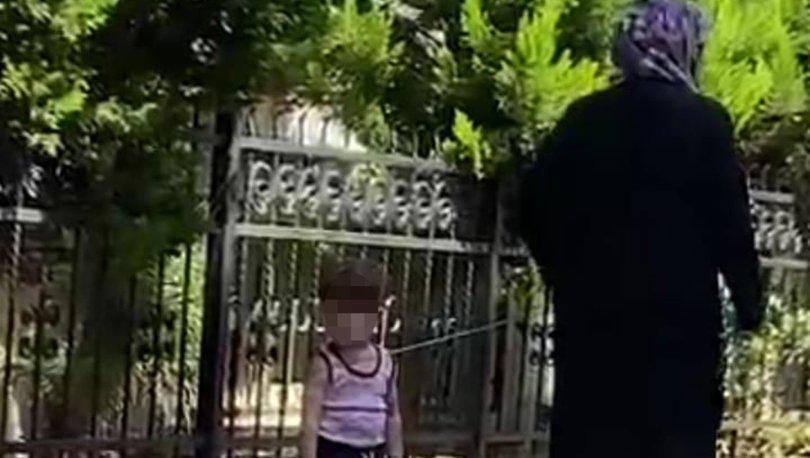 Çocuğu belinden iple bağlayıp gezdirdi! - Haberler