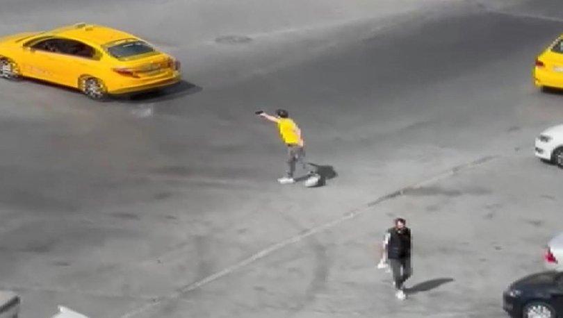 Tartıştığı taksicinin arkasından böyle ateş etti! - Haberler