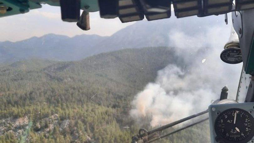Antalya'daki orman yangını kısa sürede söndürüldü