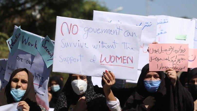SON DAKİKA: Afganistan'da kadınlar hakları için gösteri yaptı
