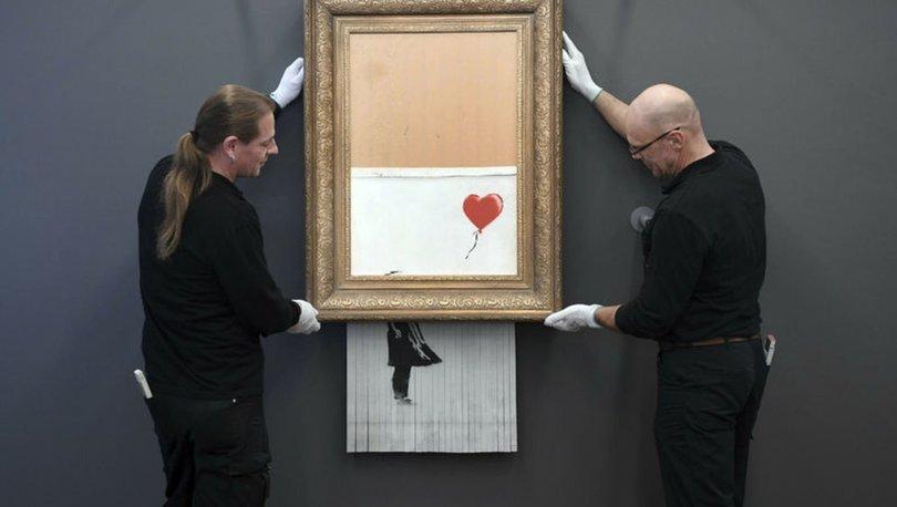 Banksy'nin 'parçaladığı' meşhur eseri yeniden satışta!