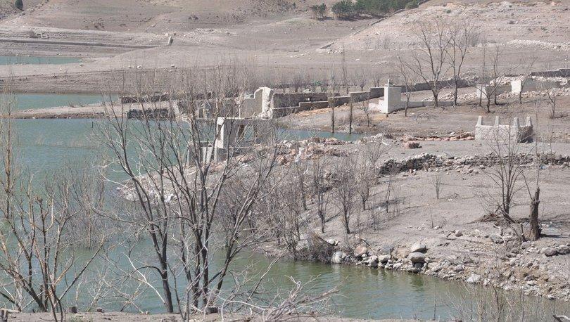 Baraj suları çekildi 'tarih' ortaya çıktı