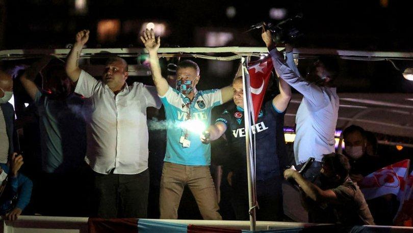 Trabzonspor'un kuruluşunun 54. yılı İstanbul'da meşalelerle kutlandı