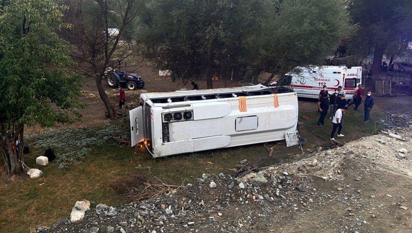 Antalya'da tur midibüsü şarampole yuvarlandı: 1 ölü, 8 yaralı