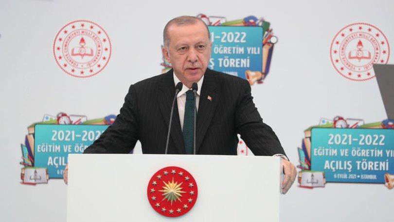 Son dakika: Cumhurbaşkanı Erdoğan: Yüz yüze eğitime devam etmekte kararlıyız