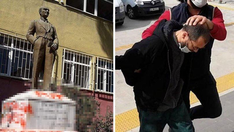 Atatürk büstüne saldırı... SON DAKİKA: sanık ilk duruşmada tahliye oldu