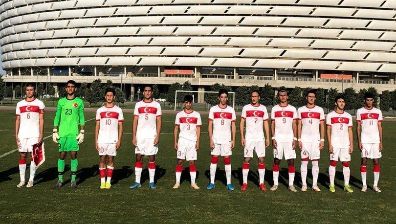 17 Yaş Altı Milli Futbol Takımı, Azerbaycan'ı 2-0 yendi
