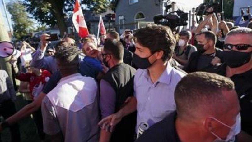 Kanada Başbakanı Trudeau, seçim ziyaretinde taşlandı