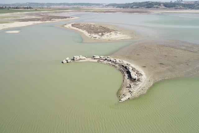 Sular çekildi, Augusta Antik Kenti gün yüzüne çıktı