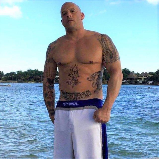 Vin Diesel'in eski halinden eser yok: Hızlı ve göbekli! - Magazin haberleri