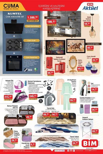 BİM aktüel ürünler kataloğu yayında! 10 Eylül Cuma: BİM indirimli ürünler