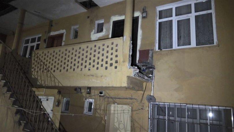 Balkon duvarı yıkıldı, 6 metreden düşen 2 kişi yaralandı