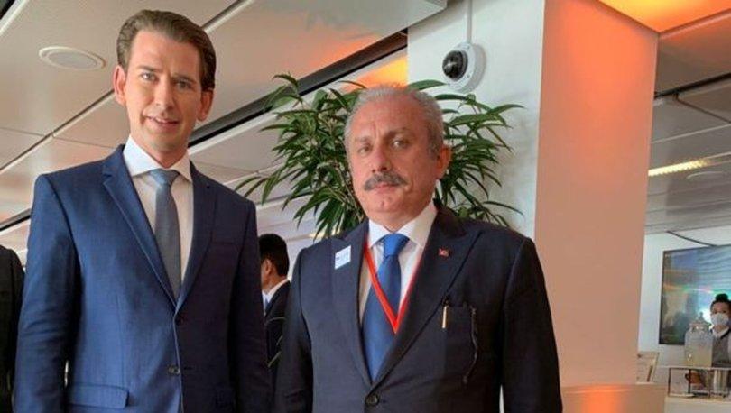 TBMM Başkanı Şentop,  Avusturya Başbakanı Kurz ile görüştü