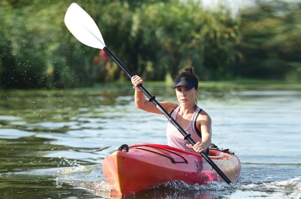 Rolü için kano kullanmayı öğrendi