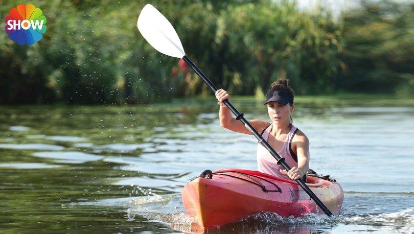 Burçin Terzioğlu rolü için kano kullanmayı öğrendi