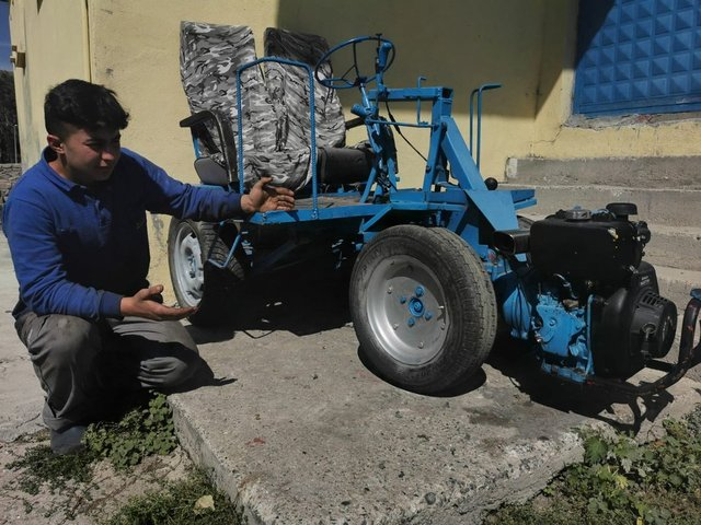Hurdadan topladığı malzemelerle ATV yaptı
