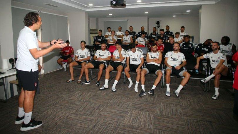 Beşiktaşlı futbolculara değişen oyun kuralları anlatıldı