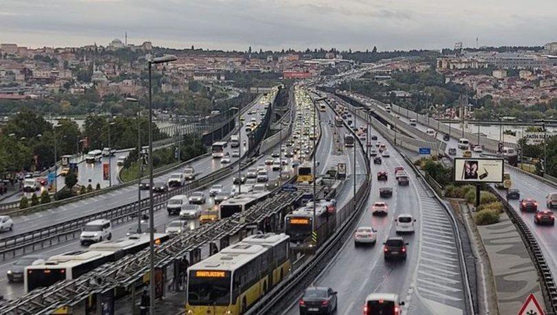 Son dakika: İstanbul'da yağmur etkisi! Trafik erken başladı
