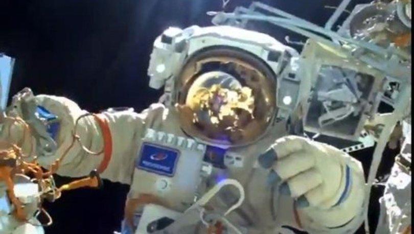 SON DAKİKA: Rus kozmonotlar, Uluslararası Uzay İstasyonu'nda uzay yürüyüşüne çıktı