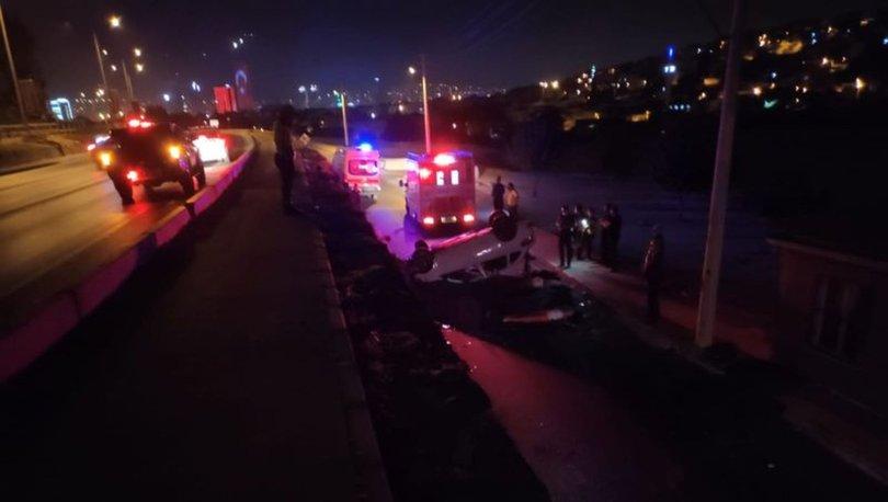 İzmir'de kontrolden çıkan araç yan yola uçtu: 1 ölü