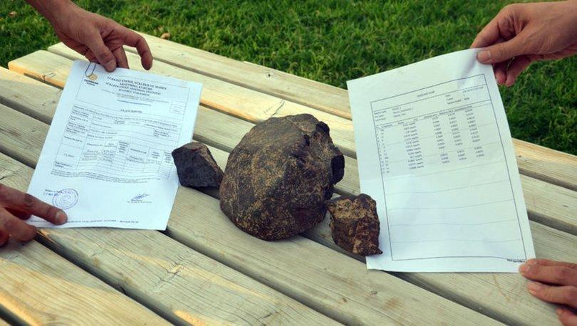 Aydında kır gezisi yapan iki arkadaşın bulduğu taşın meteor olduğu saptandı