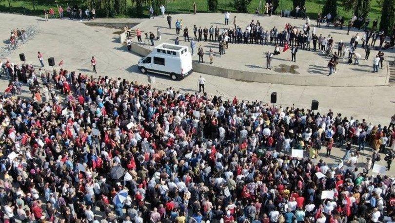 İstanbul'da aşı karşıtı miting yapıldı