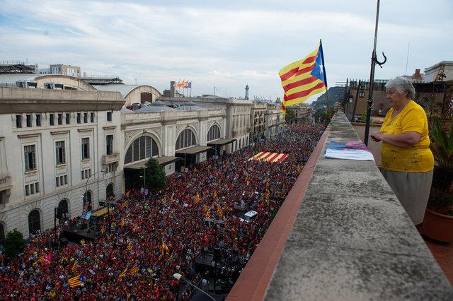 SON DAKİKA: Katalonya milli günü, son 10 yıldır olduğu gibi bu yıl da bağımsızlık yanlısı taleplerle geçti