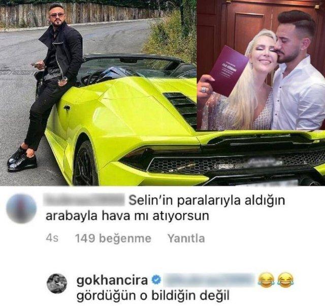 Gökhan Çıra'yı kızdıran yorum: Selin Ciğerci'nin parasıyla hava atıyorsun! - Magazin haberleri