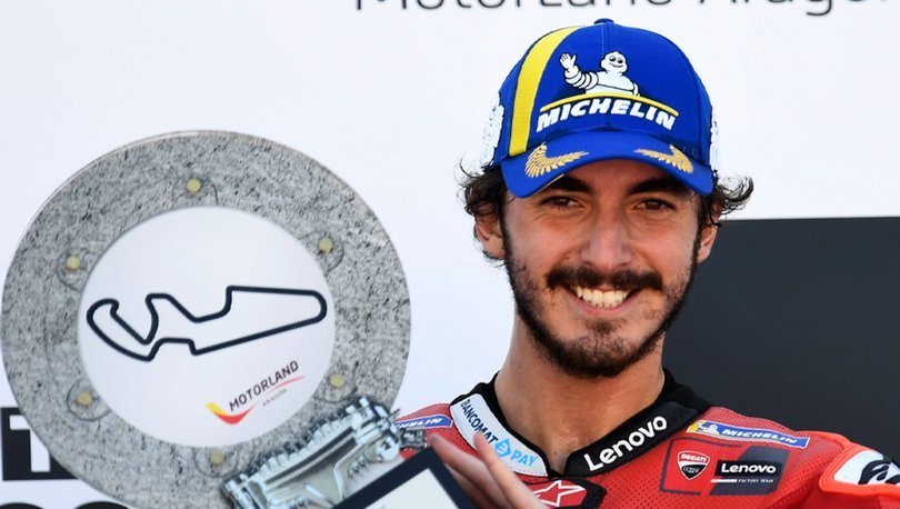 MotoGP Aragon Grand Prix'sinde zafer Francesco Bagnaia'nın oldu
