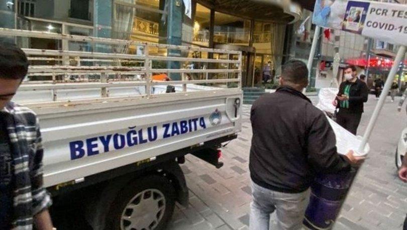 Beyoğlu'nda 'kaçak tur stantları' denetimi: 78 bin lira ceza yazıldı